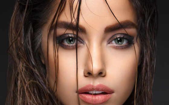 красивый, глаза, женский, красавица, глаз, женщина, portrait, фото, red, drawing, девушка