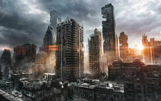 руины, город