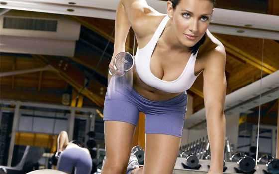 girls, гантелями, упражнения, рук, спину, гантелей, которые, накачать, тяга, дельты,