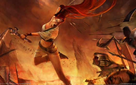 воин, женщина, оружие Фон № 127667 разрешение 1920x1080