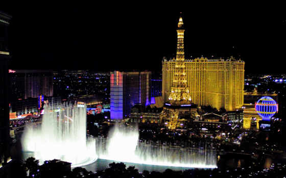 vegas, las, казино, hotel, париж, свет, resort, ночь,