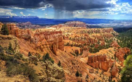 брайс, каньон, park, national, сша, юго, западе, utah, площадь, расположен, штата,