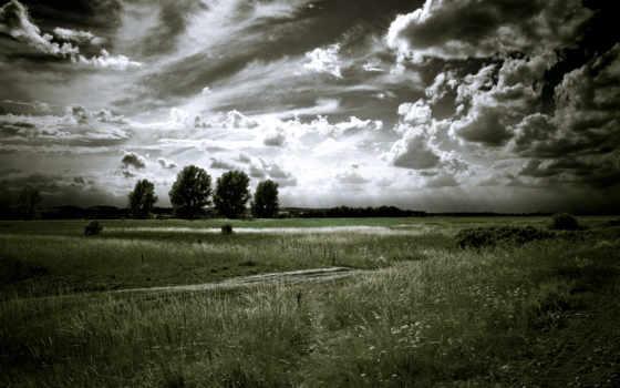чёрно, белые, landscape,