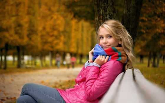 девушка, настроение, осень, devushki, loneliness, парке, рисунки, бесплатные,