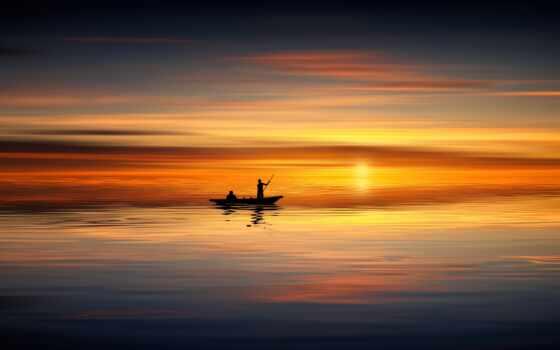 нота, samsing, coucher, soleil, закат, горизонт, лодка, galaxy, free