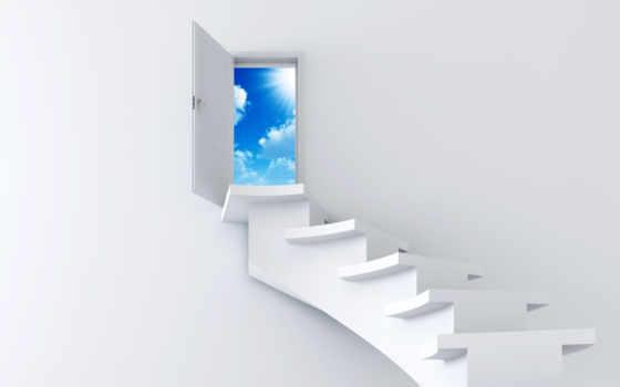 лестница, небо Фон № 7057 разрешение 1920x1200