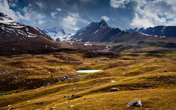 горы, озеро Фон № 22457 разрешение 2560x1600