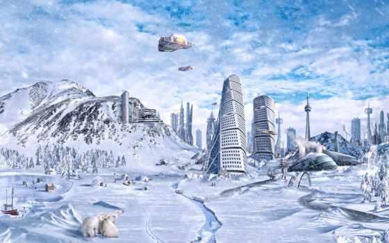 фэнтези, широкоформатные, зимы