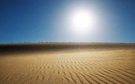 небо, пустыня, закат