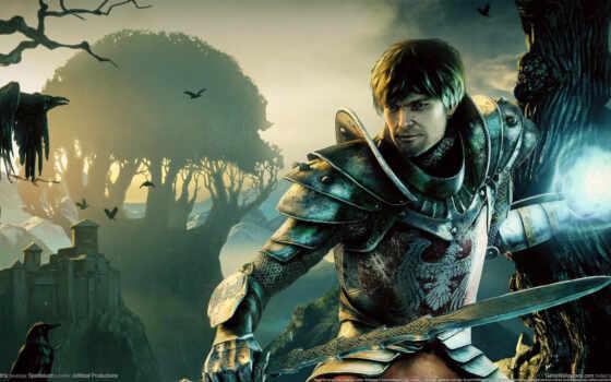 игры, игра, gothic, ancaria, games, видео, компьютерные, fantasy, men, рисунки, swords, фотографии, популярные, armor, magic, crows,