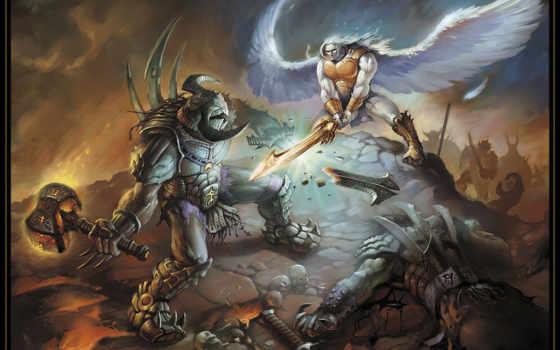 ангелов, битва, демонов, ангелы, демоны, да, game, war,