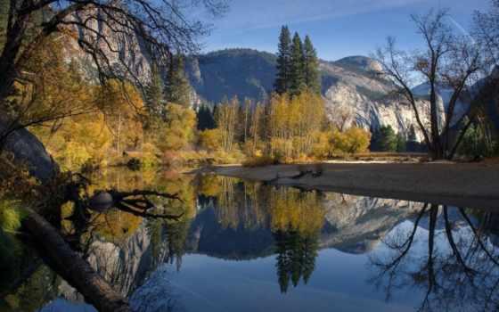 картинка, озеро, fore, отражение, goodfon, природа, дерево, гора, summer