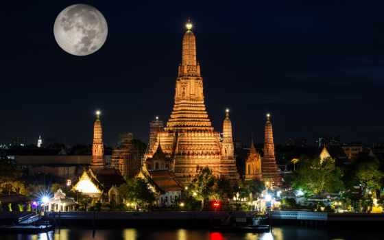 krathong, festival, loy, таиланд, wat, arun, поплавок, под, день, peng, bangkok