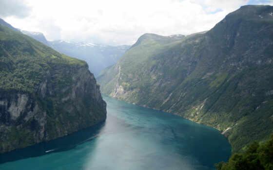 fjord, wallpaper, nature, norway, fond, hd, cliff, mountain, geiranger, écran, nehir, resimleri,