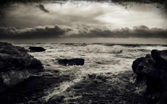 буря, море, волны
