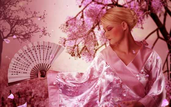 кимоно, devushka, veer