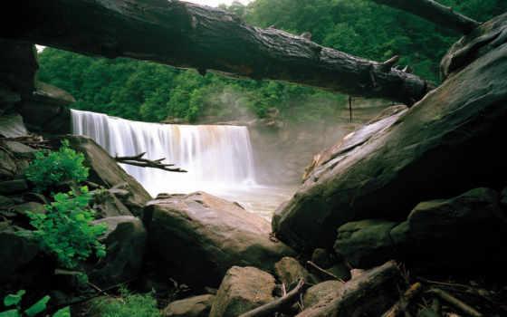 природа, картинка, водопады