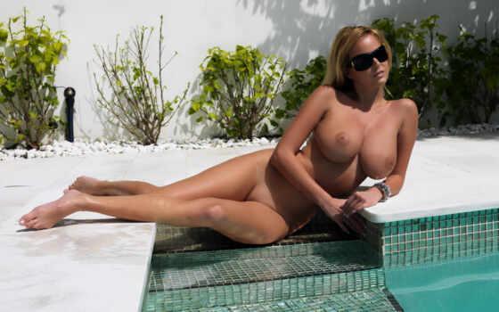 эротика, бассейн, девушка