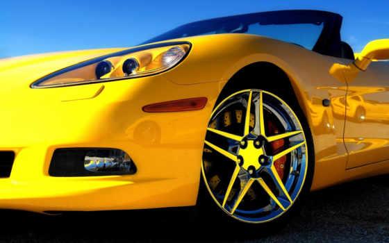 машины, желтая, машина