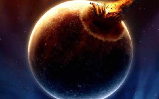 планета, астероиды Фон № 116605 разрешение 1600x1200