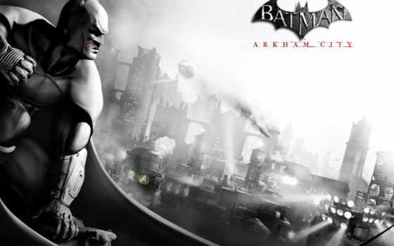 arkham, batman, город