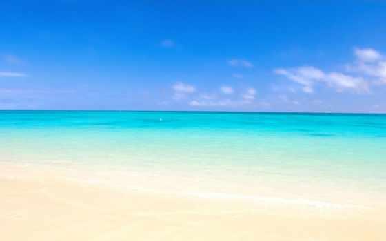 пляж, море, full, голубое, телефон,
