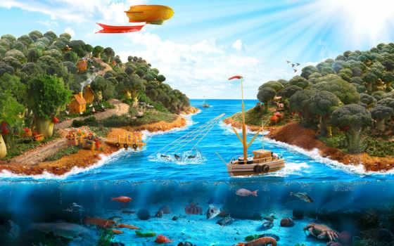 бесплатные, часть, рисованные, наилучшие, underwater, world,