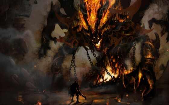 monster, демон, art, гигант, изображение, little, reactor, заполнить
