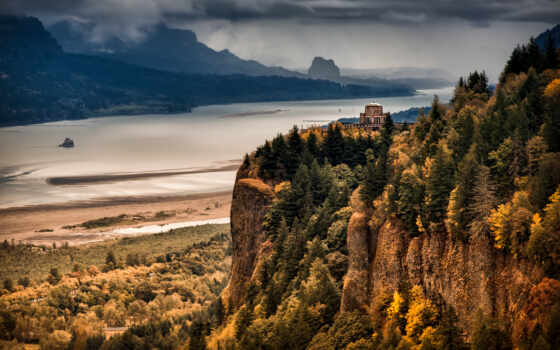 columbia, ущелье, best, гора, река, осень, loaded, уж