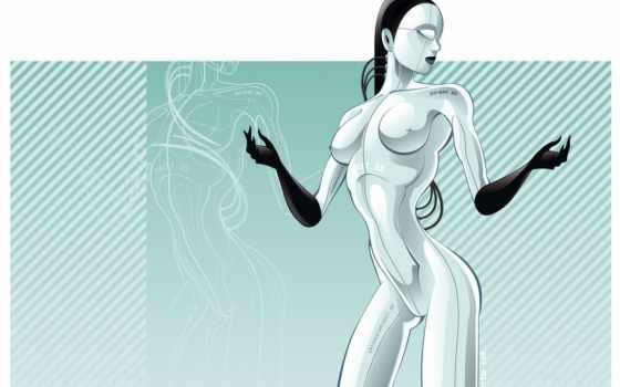 голая робот