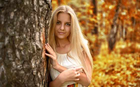 dress, autumn, photo, girl, beautiful, hair, figure, jacket, murat kuzhakhmetov, park, pose