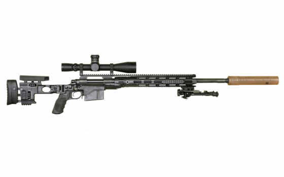rifle, sniper, black, with, utg, dan, airsoft, scope, interested, have, also, you,