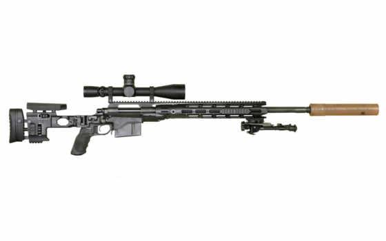 rifle, sniper, black