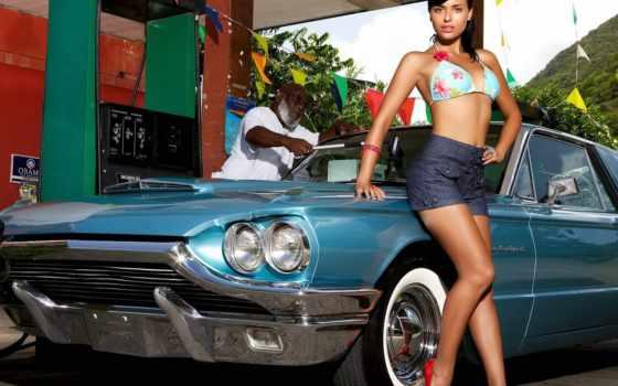 девушки, авто, автомобили Фон № 50755 разрешение 1920x1080