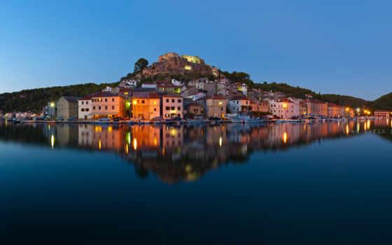 озеро, house, dugi, хорватия, otok, mir,
