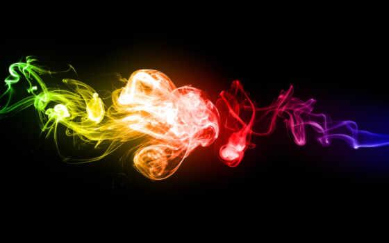дым, радуга, совершенно, color, абстрактные, категория, wpapers, абстракция,