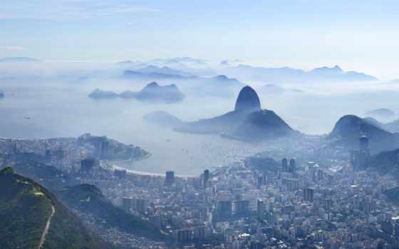 rio, пляж, janeiro, brazil, botafogo, море,