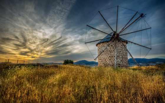 ветряк, bodrum, duzen, nejdet, mill, природа, стена, art, поле, пл,