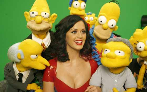 perry, simpsons, katy