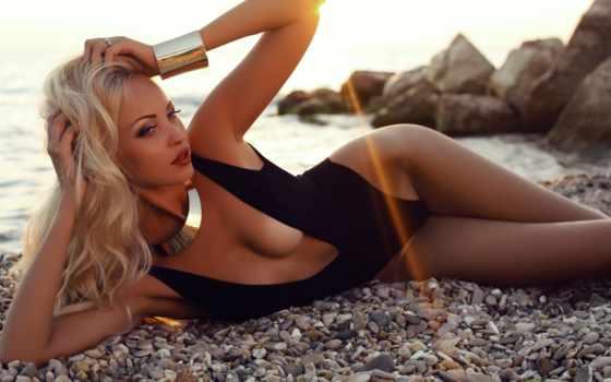 купальнике, девушка, пляж, stock, photos, blonde, лежит, sexy, images,