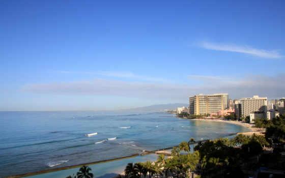 print, art, cityscape, canvas, real, hawaii, гонолулу, краска