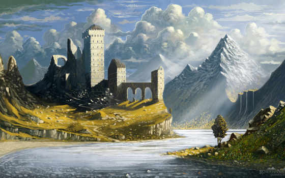 castle, print, abandon, art, качество, high, pin