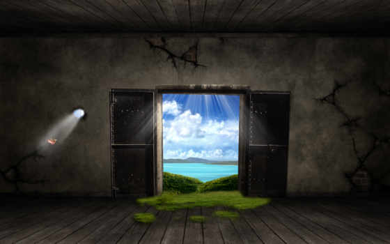 windows, дверь, fantasy, out, free, desktop,