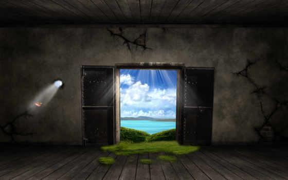 windows, дверь, fantasy
