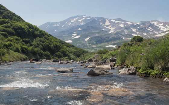 камчатка, russian, горы, природа, ручей, камни, картинка, peninsula, россия,