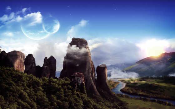 meteora, обитель, горы, linkin, park, природа, лучшая, потрясающих,