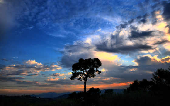 небо, dramatic, природа,
