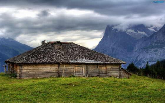 гора, dom, горах