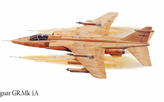 jaguar, полет, самолёт, рисунок, истребитель, attack, рейтинг,
