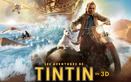 tintin, movie, плакат